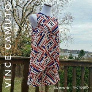 VINCE CAMUTO Kenya Blues Hi-Lo Tunic Dress